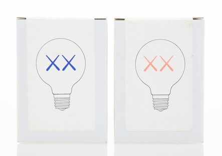 KAWS, 'Light Bulbs for The Standard (Red and Purple), (two works)', 2011