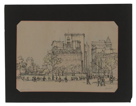Jules Andre Smith, 'A View of Central Park South Featuring the Navarro Flats (1882)', ca. 1915