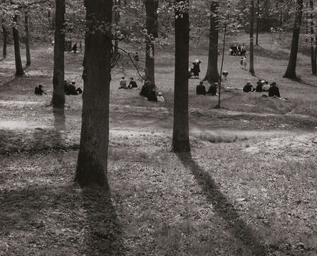 André Kertész, 'Trees with People Sitting in Field or Park, Paris', 1931 / 1930s