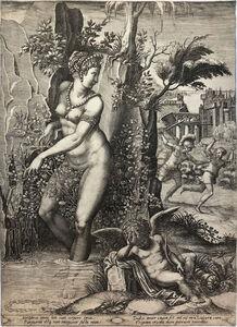 Giorgio Ghisi, 'Venus and the Rose (2nd State)', 1556