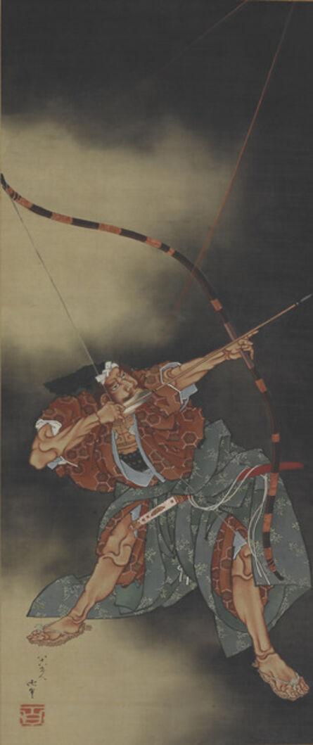 Katsushika Hokusai, 'Minamoto no Yorimasa Aiming an Arrow. Japan, Edo period (1615–1868)', ca. 1847-49