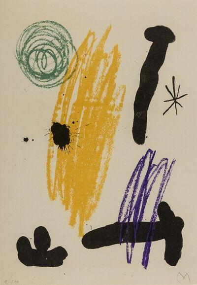 Joan Miró, 'Obra Inèdita Recent plate VIII (M.356)', 1964