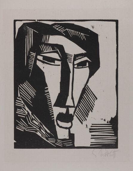 Karl Schmidt-Rottluff, 'Frauenkopf (Head of a Woman)', 1915