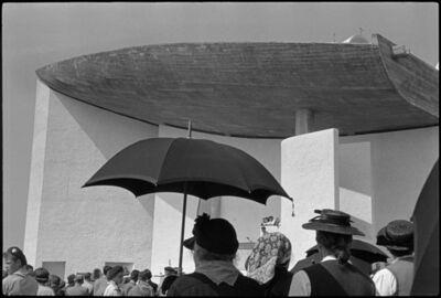 René Burri, 'FRANCE. Inauguration of the chapel of Notre-Dame du Haut, built by LE CORBUSIER.', 1955