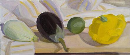 Lynn Kotula, 'Pale Green Tiger Squash, Eggplant, Lime and Plump Pattypan', 2016