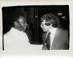 Andy Warhol, 'Andy Warhol, Photograph of Pelé and Richard Weisman, 1977', 1977