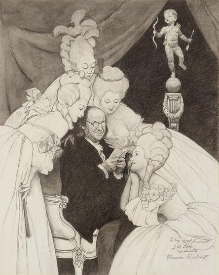 Norman Rockwell, 'Ben Franklin's Belles', 1963