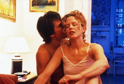 Stanley Kubrick, 'Eyes Wide Shut, directed by Stanley Kubrick (1999; GB/United States). Tom Cruise and Nicole Kidman.', 1999