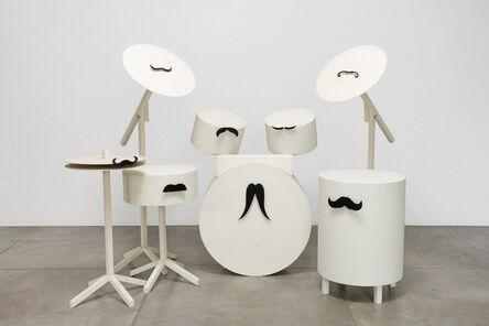 João Loureiro, 'Drum set with mustaches', 2016