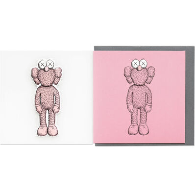 KAWS, 'KAWS x NGV BFF Greeting Card with Puffy Sticker (Pink)', 2019