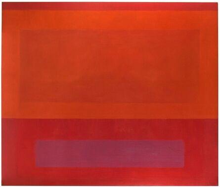 Perle Fine, 'Cool Series (Red over Orange over Purple)', 1961-1963