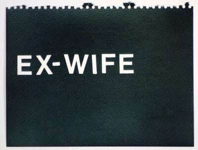 Betty Tompkins, 'Ex-Wife (black)'