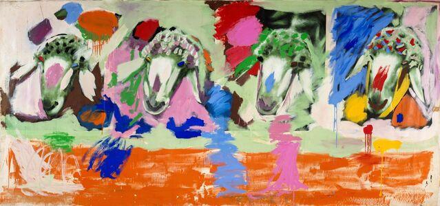 Menashe Kadishman, '4 Sheep's Heads', 1980-1982