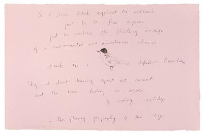 Jim Dine, 'So I lean back (Oo La La)', 1970