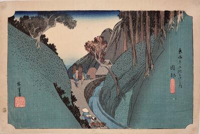 Utagawa Hiroshige (Andō Hiroshige), 'Okabe', 1832-1833