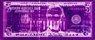 David LaChapelle, 'Negative Currency: Five Dollar Bill Used As Negative', 2008