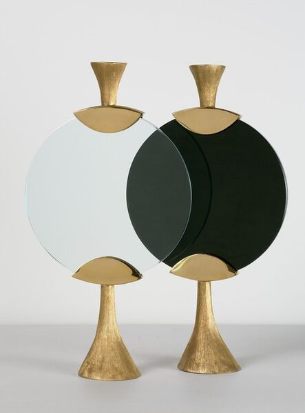 """Aldus, '""""Moon,"""" Candlestick in Black or White', 2013"""