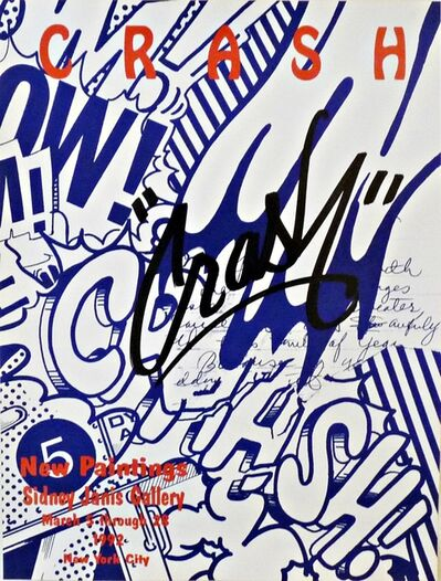 "CRASH (John ""Crash"" Matos), 'New Paintings, Sidney Janis Gallery Exhibition Poster', 1992"