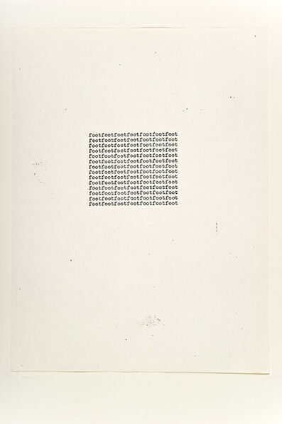 Carl Andre, 'foot', 1963