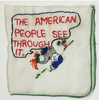 Tiny Pricks Project, 'The American People See Through It by Diana Weymar', 2020