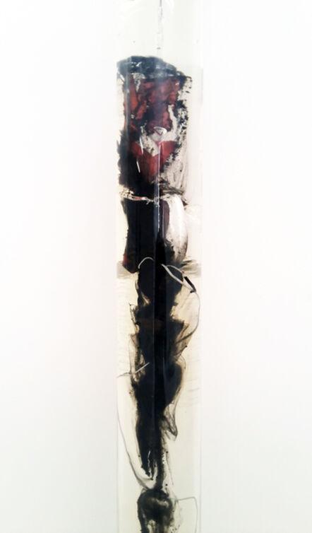 Vivien Roubaud, 'Feu d'artifice, gel de pétrole dégazé, combustion incomplète, tube PMMA', 2014