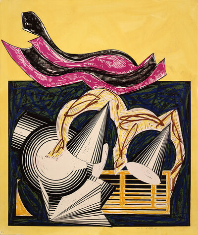 Frank Stella, 'Illustrations after El Lissitzky's 'Had Gadya': 1. One small goat papa bought for two zuzim - CTPI', 1985