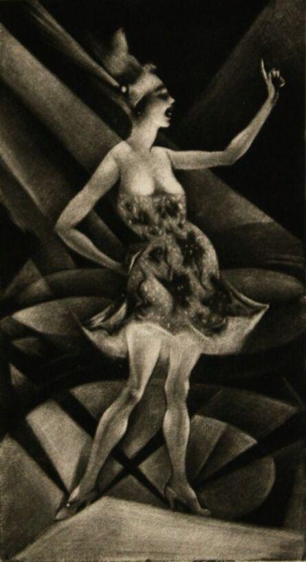 Christopher Richard Wynne Nevinson, 'On the Roof Garden', 1919