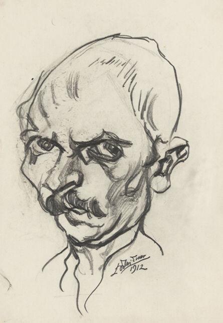 Ludwig Meidner, 'self portrait', 1912