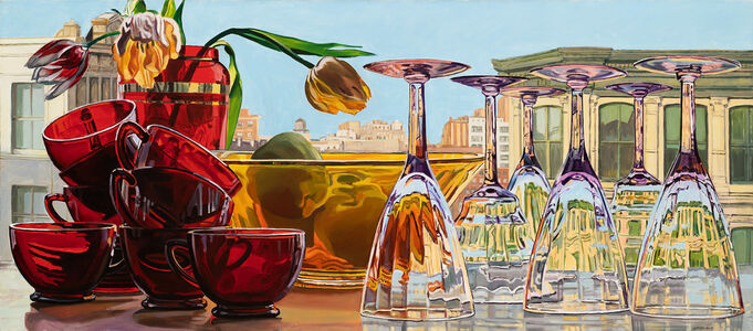 Janet Fish, 'Red Cups and Tulips', 1981