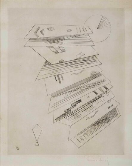 Wassily Kandinsky, 'Zweite Radierung Fur Editions Cahiers D'Art', 1932