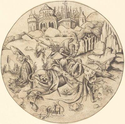 Israhel van Meckenem, 'Saint George and the Dragon', ca. 1465/1470
