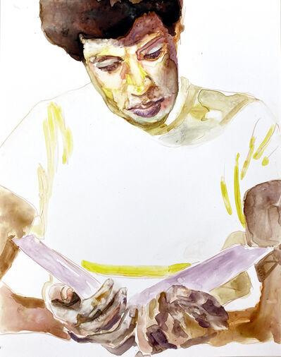 Angela Fraleigh, 'Study Octavia Butler reading', 2020
