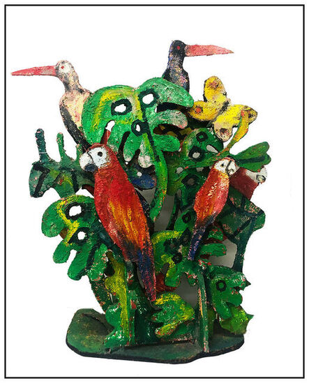 Hunt Slonem, 'Macaws & Butterflies', 20th Century