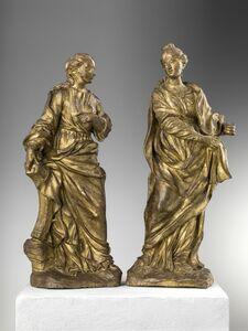 Pietro Baratta, 'ST CATHERINE OF ALEXANDRIA AND FIGURE OF A FEMALE SAINT'