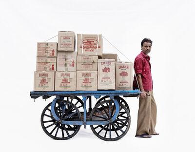 Martin Roemers, 'Handcart #3; Courier Bally Koli', 2019