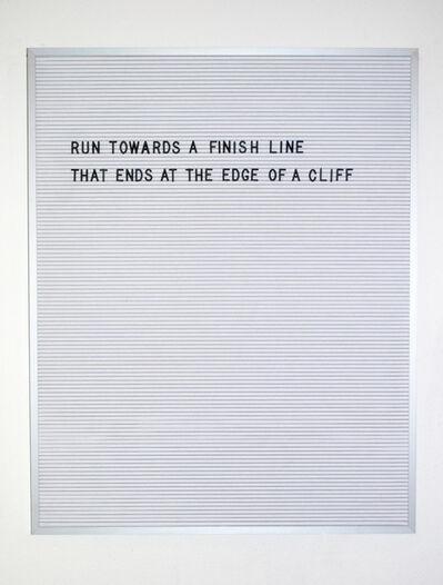Nicole Reber, 'Finish Line', 2016