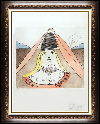 Salvador Dalí, 'Salvador Dali Lady Dulcinea Color Etching Hand Signed Don Quixote Surreal Art', 1980