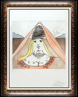 Salvador Dalí, 'Salvador Dali Lady Dulcinea Color Etching Hand Signed Don Quixote Surreal Art', 1980