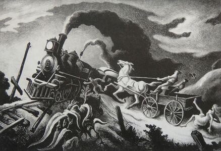 Thomas Hart Benton, 'Wreck of the Ol '97', 1944