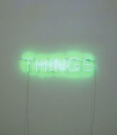 Martin Creed, 'Work No. 260 THINGS', 2001