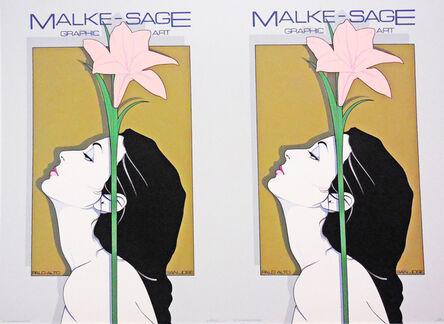 Patrick Nagel, 'Malke Sage Graphic Art- Rare Double Print Edition', 1979