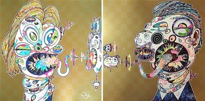 Takashi Murakami, 'Homage to Francis Bacon (Study for Head of Isabel Rawsthorne and George Dyer) ', 2016