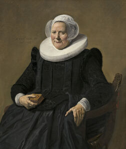 Frans Hals, 'Portrait of an Elderly Lady', 1633