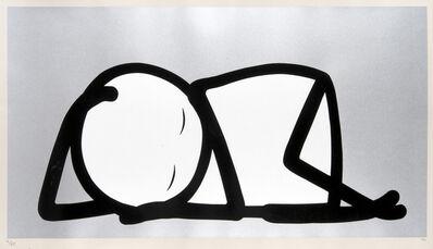Stik, 'Sleeping Baby (Silver)', 2015