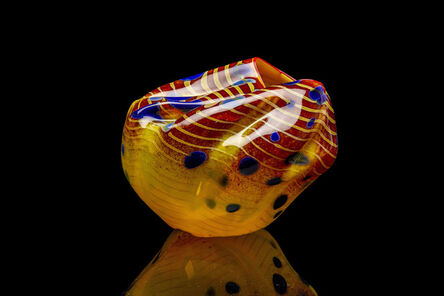 Dale Chihuly, 'Dale Chihuly Signed Cinnamon Macchia Handblown Contemporary Glass Sculpture', 2001
