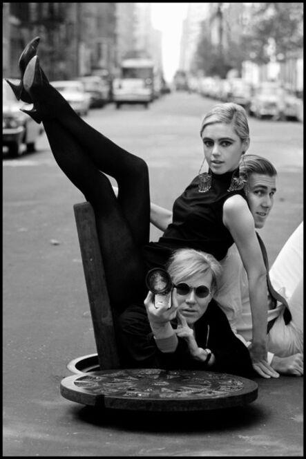 Burt Glinn, 'Andy Warhol with Edie Sedgwick and Chuck Wein', 1965
