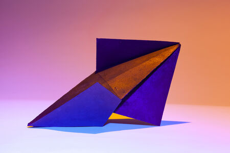 Felecia Chizuko Carlisle, 'Decahedron Variant with Gold and Blue', 2020