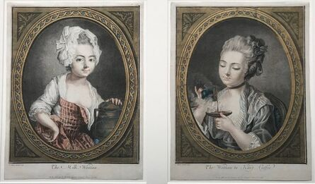 Louis-Marin Bonnet, 'The Milk Woman & The Woman Ta King Coffee', 1754