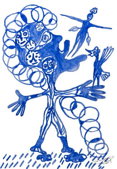 Hervé Yamguen, 'L'oiseau bleu #4', 2020