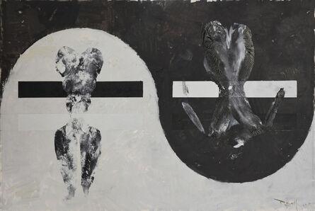 Huang Rui 黄锐, 'Black and White Canvas No.7', 2015